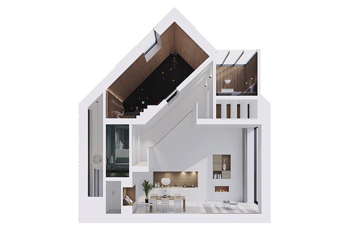 Funda huis frontaal het origineel